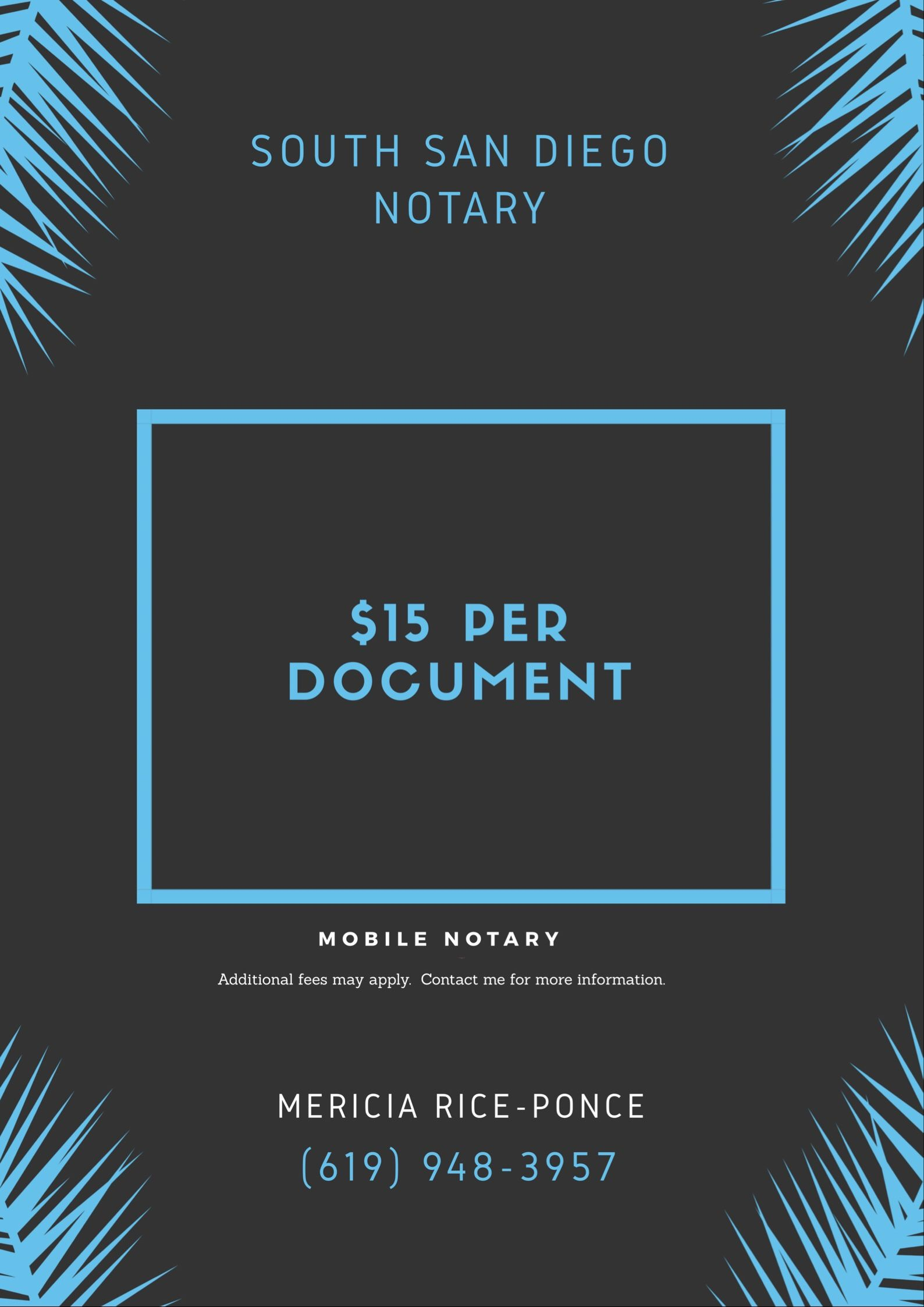 Mobile Notary Public South San Diego Notary on WordPress
