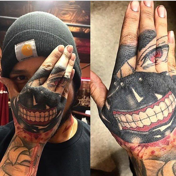 Tattøø Ken Kaneki Tg Tattoo Tatuaż Tatuaże Pomysły