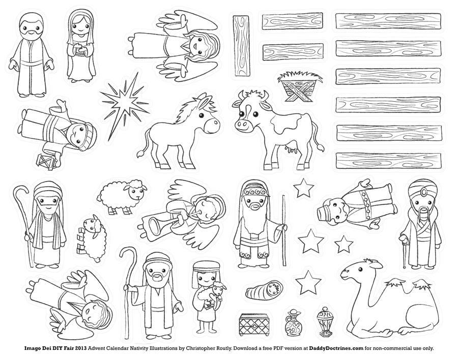 Fun Nativity Craft Idea Advent Calendars For Kids Kids