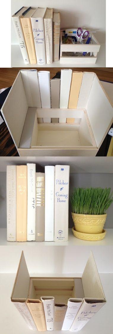 diy construire une boite de rangement avec des livres pinterest. Black Bedroom Furniture Sets. Home Design Ideas