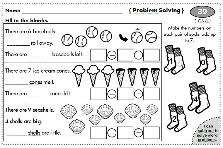 Tremendous First Grade Problem Solving Scalien Easy Diy Christmas Decorations Tissureus