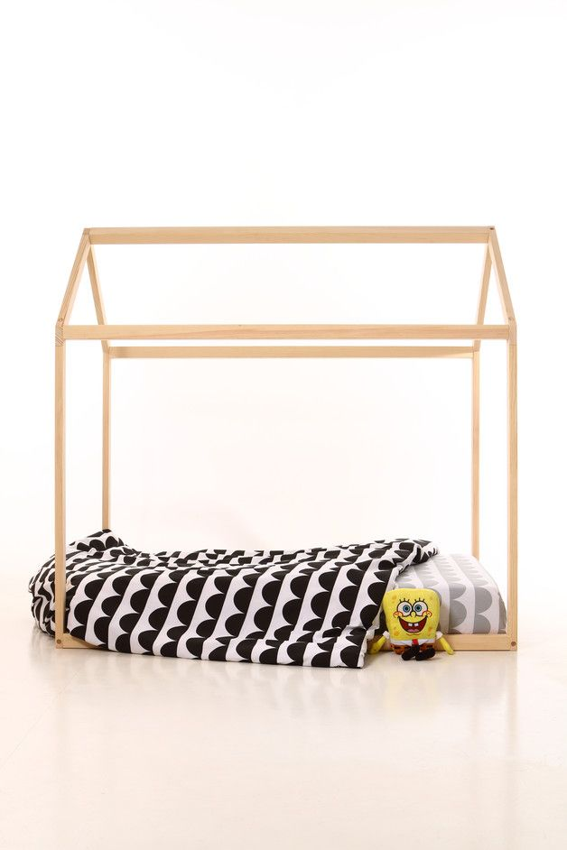 hochbetten 90x 200 kinder bett haus with slats ein designerst ck von meiddeco bei dawanda. Black Bedroom Furniture Sets. Home Design Ideas