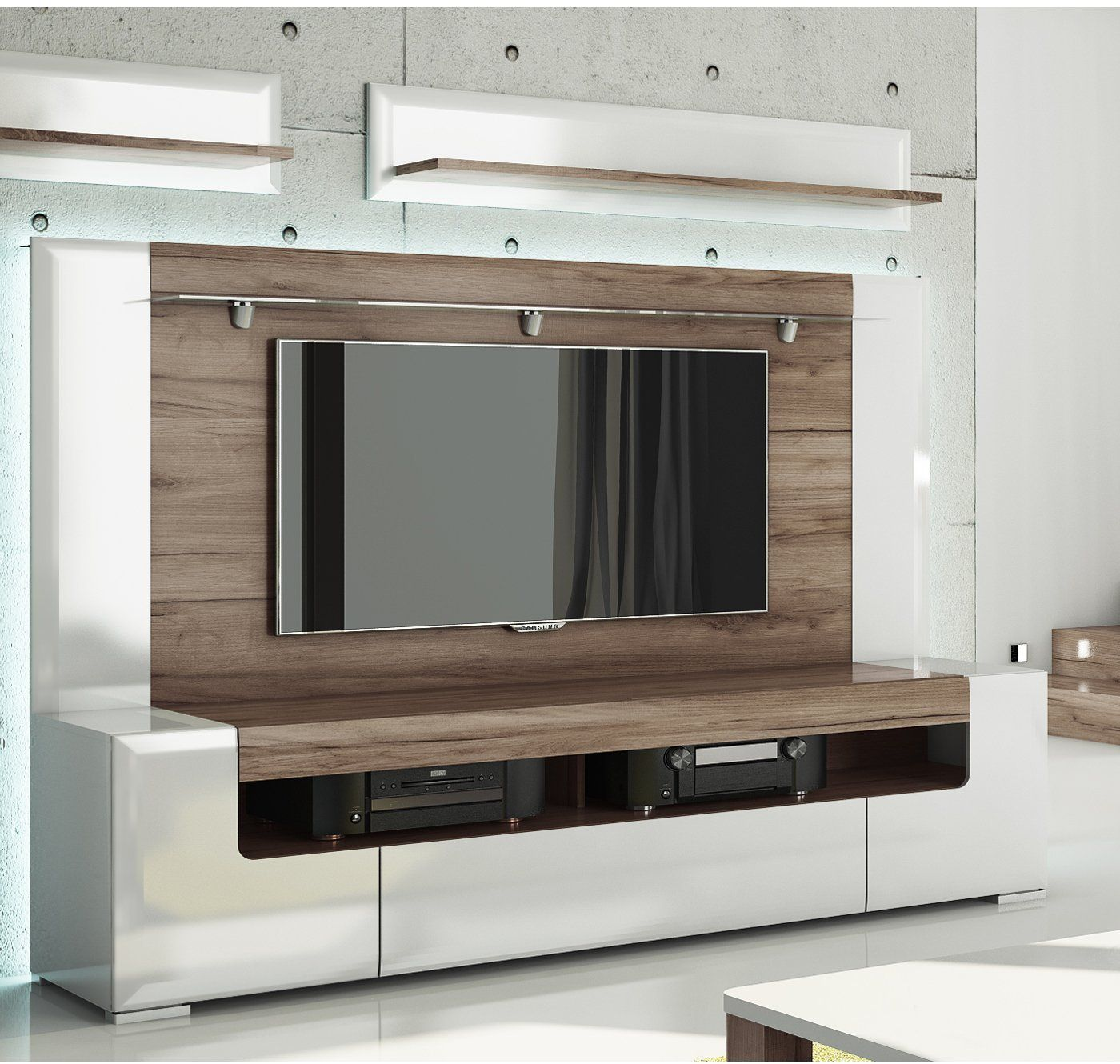 Toronto TV Cabinet With Wall Panel   Large   Living Room Entertainment  Center / Large TV