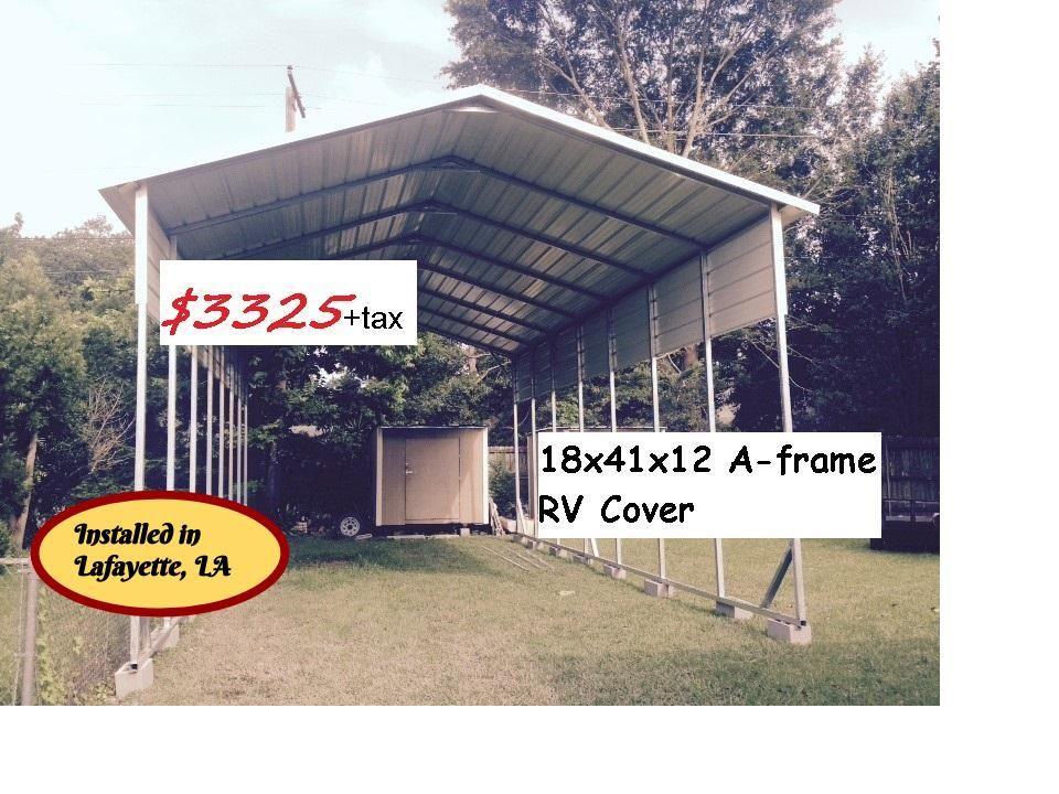 Metal RV Covers and Motor home Garages Metal buildings
