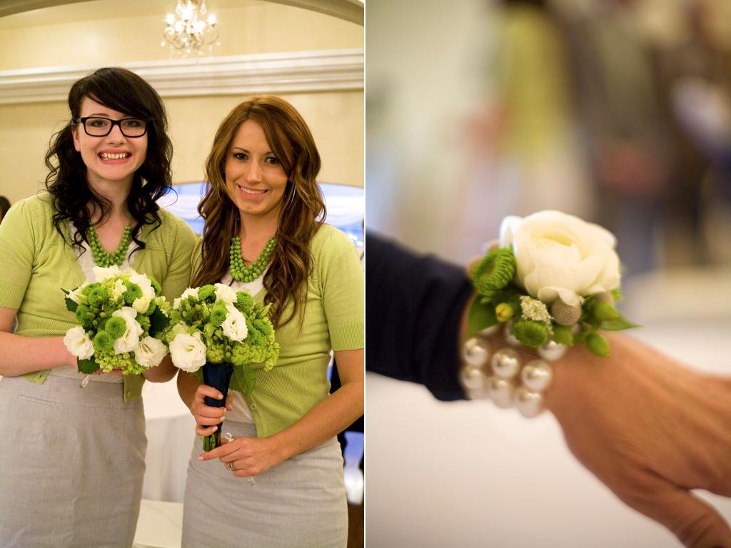 White Pearl Flower Bracelet Utah Wedding Flowers Calie Rose