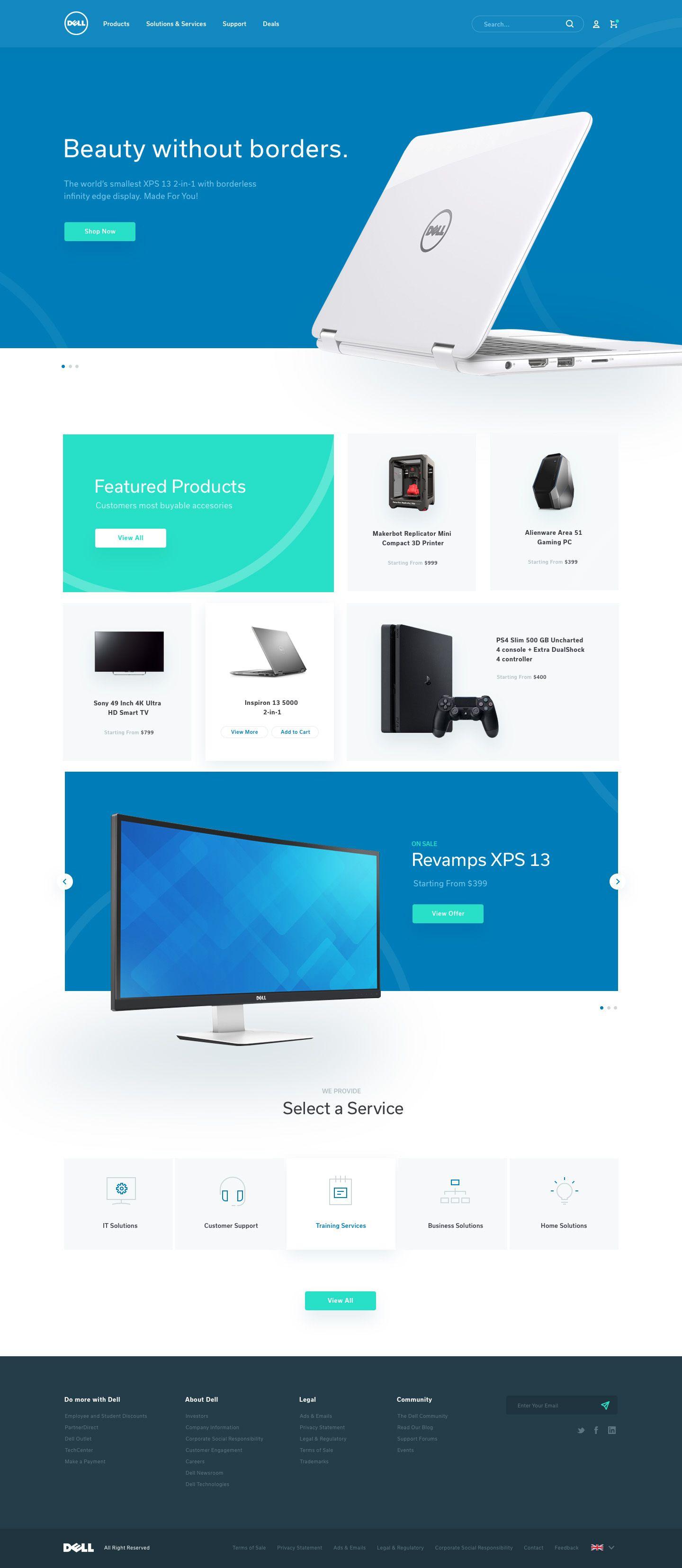 Dell homepage redesign | ☆~Web Design 1~☆ | Web design trends, Web