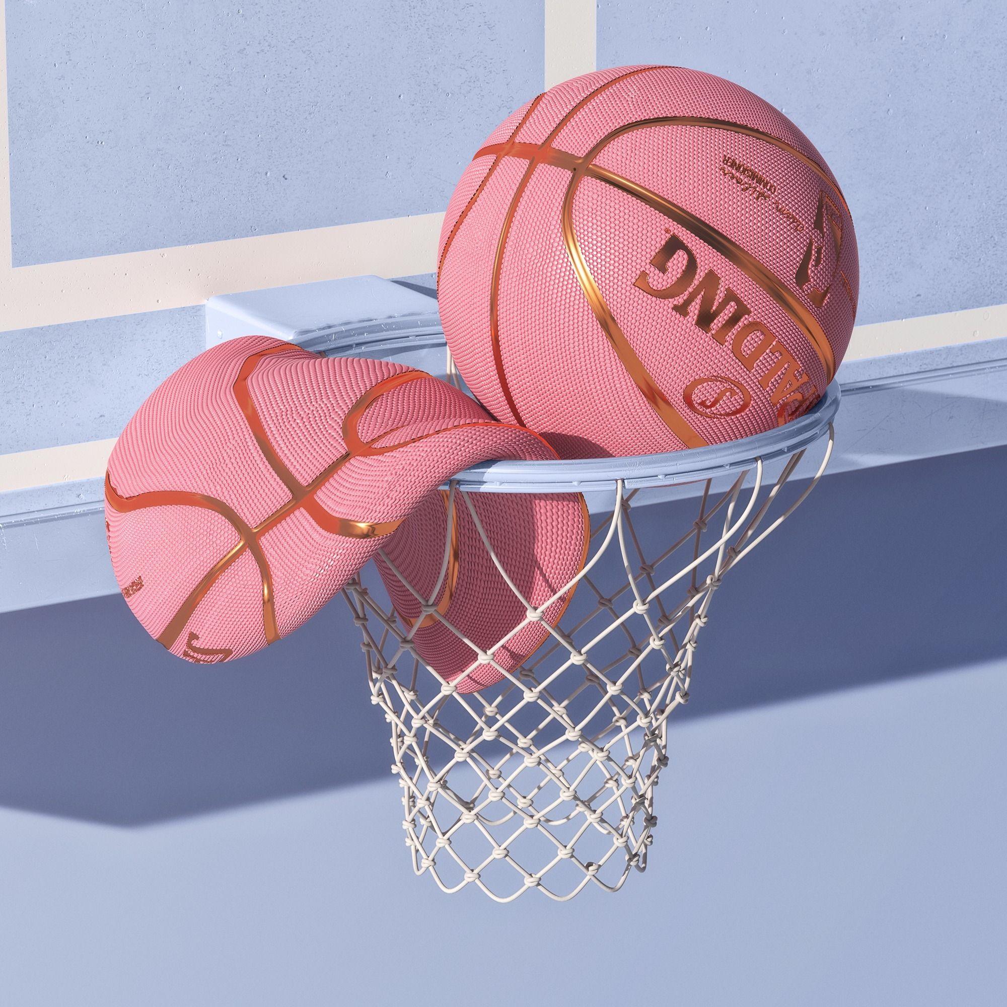 Ballgames By Philiplueck Ello 3d 3drendering Design Pink