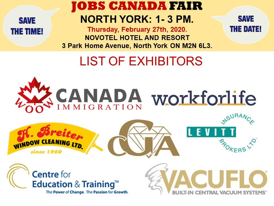 List of hiring companies for northyorkjobfair on february