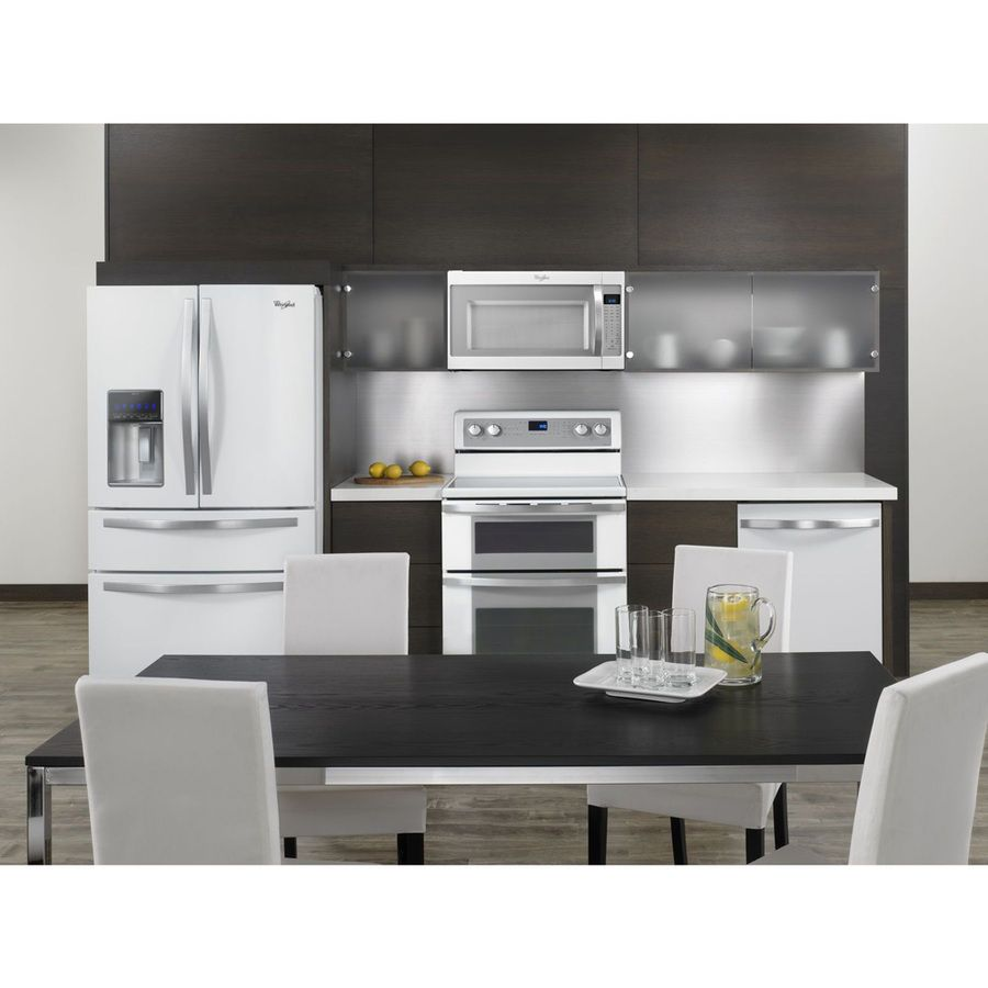 Whirlpool white ice over the range microwave - Shop Whirlpool 2 Cu Ft Over The Range Microwave Sensor Cooking Controls