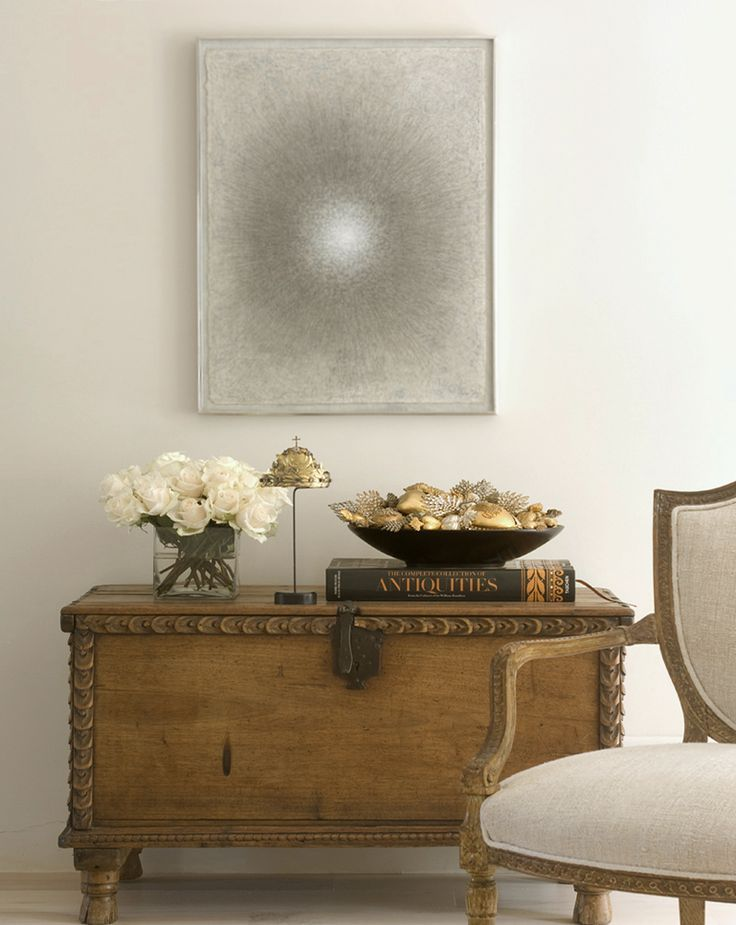 Antique Pine Chest with Modern Art :: Interior Design by Jane Moore ...