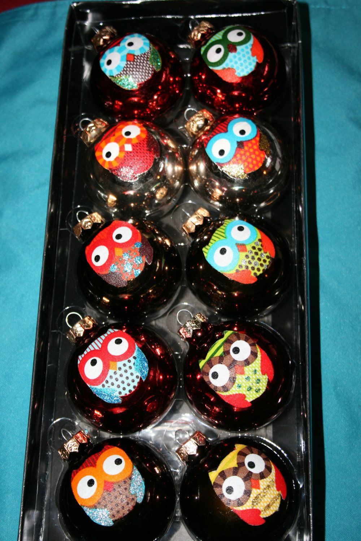 Owl Christmas Ornaments Christmas ornaments, Christmas