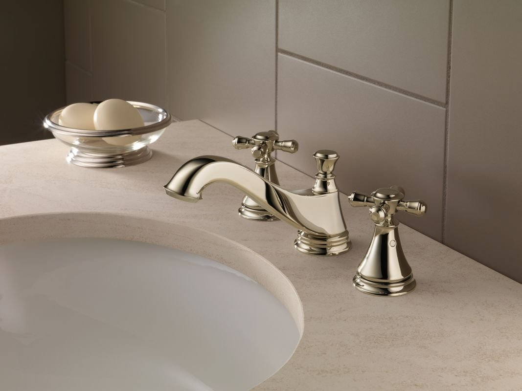 delta (but in champagne finish) | S&D Powder room | Pinterest | Tap ...