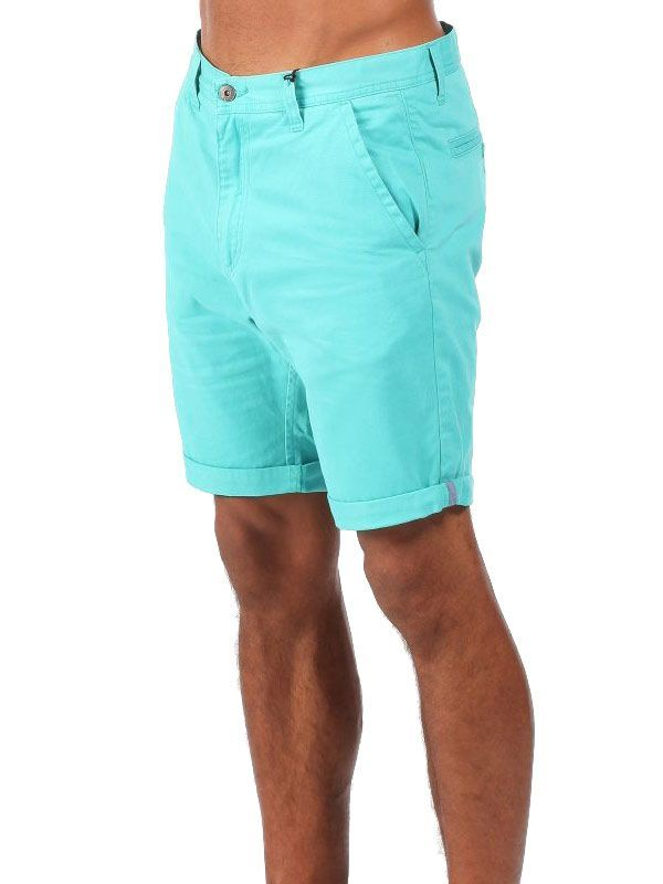 Short chino Bench Homme classique bleu turquoise.