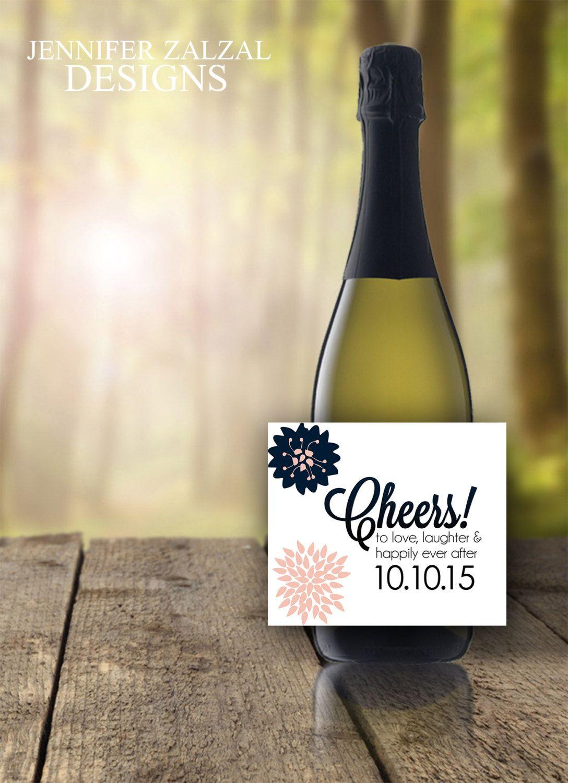 Cheers Wedding Wine Bottle Labels. Personalized Wedding Wine Label ...