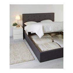 gvarv bettgestell mit aufbewahrung skiftebo grau new home pinterest bettgestell ikea und. Black Bedroom Furniture Sets. Home Design Ideas
