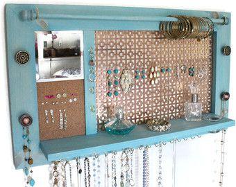 Jewelry Organizer Jewelry Hanger Wooden Wall Hanging Jewelry