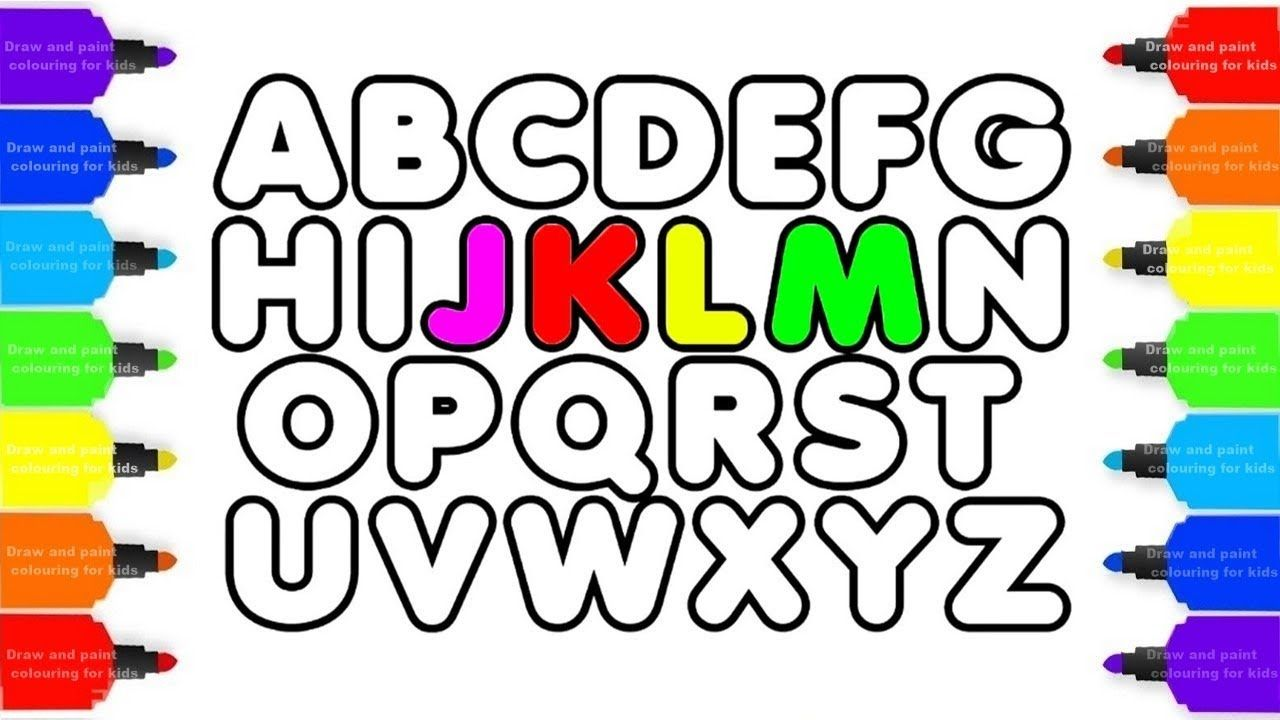 How To Draw Alphabet Abc Coloring Pages Kids Alphabet A To Z And Drawi Abc Coloring Pages Abc Coloring Alphabet For Kids