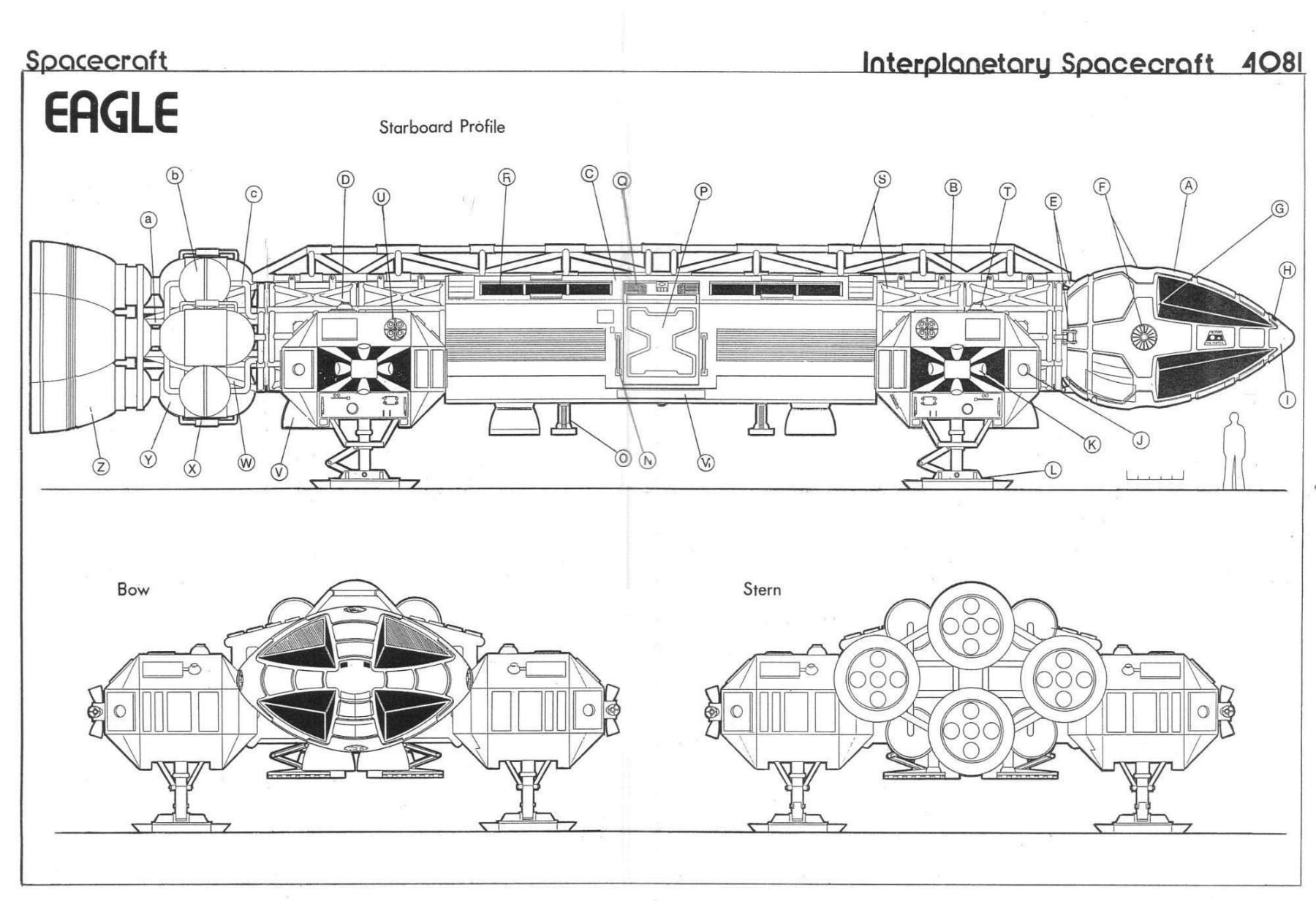 Space 1999 Eagle Blueprints By Keith Young Detailed And Carefully Schematics Researched This Schematic Shows