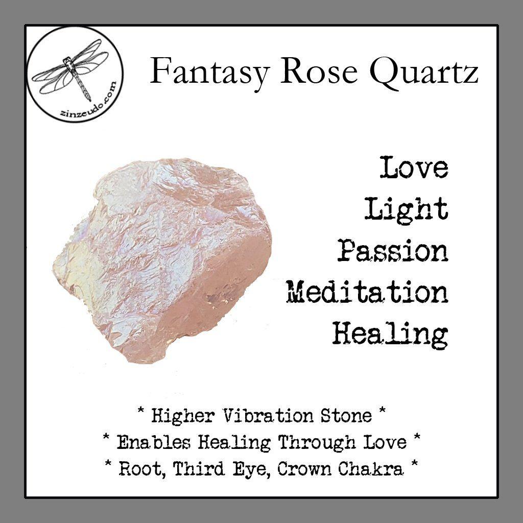 Fantasy rose quartz tumbled stones for healing through