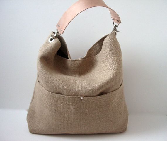 Resort Tote, Summer Beach Bag, Bucket Tote, Hobo Tote, Linen Bag ...