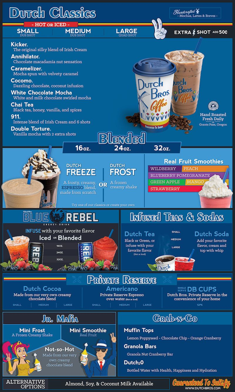 Dutch Bros Secret Menu Over 80 Hidden Combinations Dutch Bros Drinks Dutch Bros Secret Menu Secret Menu