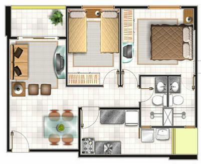 Planos Casa Pequena Plano 55 M2 Pinterest Casas Casas - Planos-de-casas-pequeas