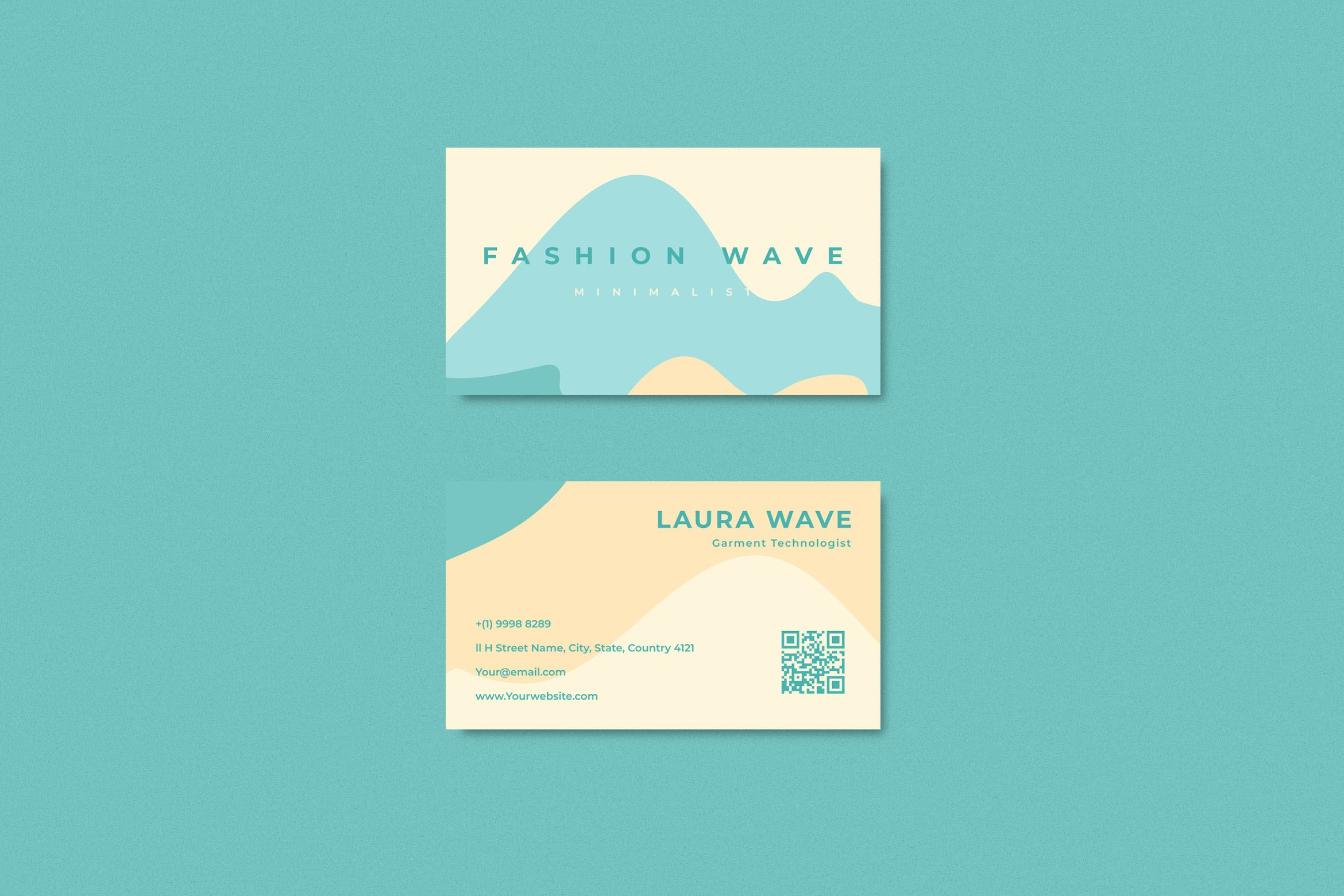 Simple Fashion wave blue abstract business card template eps 10 in 2020 | Business  cards beauty, Blue abstract, Business card design