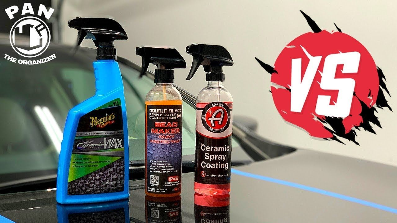 Meguiar S Hybrid Ceramic Wax Vs P S Bead Maker Vs Adam S Ceramic Spray Coating Youtube Spray Meguiars Truck Detailing