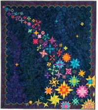 Peerless: Skyfall by Kathy Beltz and Mara Novak from Quilters Newsletter April/May 2015