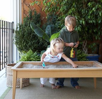 A sandbox for kids that could easily be covered to keep animals out garden ideas pinterest - Garden ideas to keep animals out ...