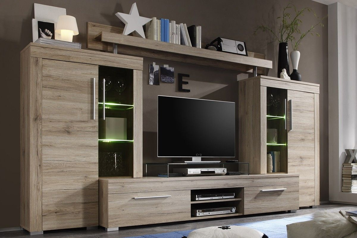 Ensemble Meuble Tv Coloris Ch Ne San Remo Salons Tv Units And  # Long Meuble Tv Design