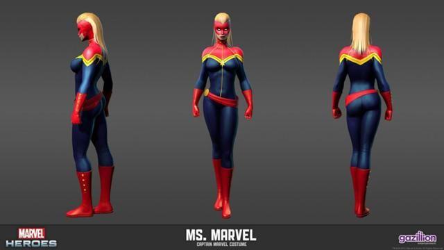 captain marvel 3d model
