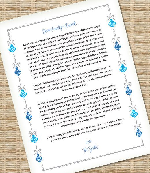 Microsoft Word Christmas Letter Template With Ornaments