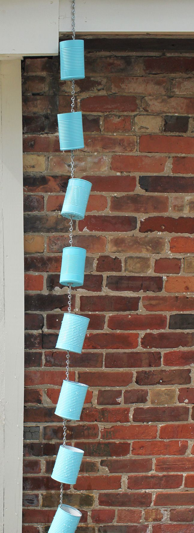 soup can rain chain diy our homes magazine outdoor spaces