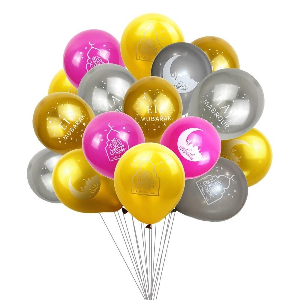 Supplies Decorations Cake Balloon Eid Mubarak Ramadan Kareen Latex Balloons