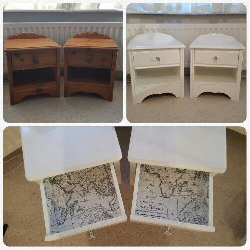 Before And After Pine Bedside Tables That I Got For Free