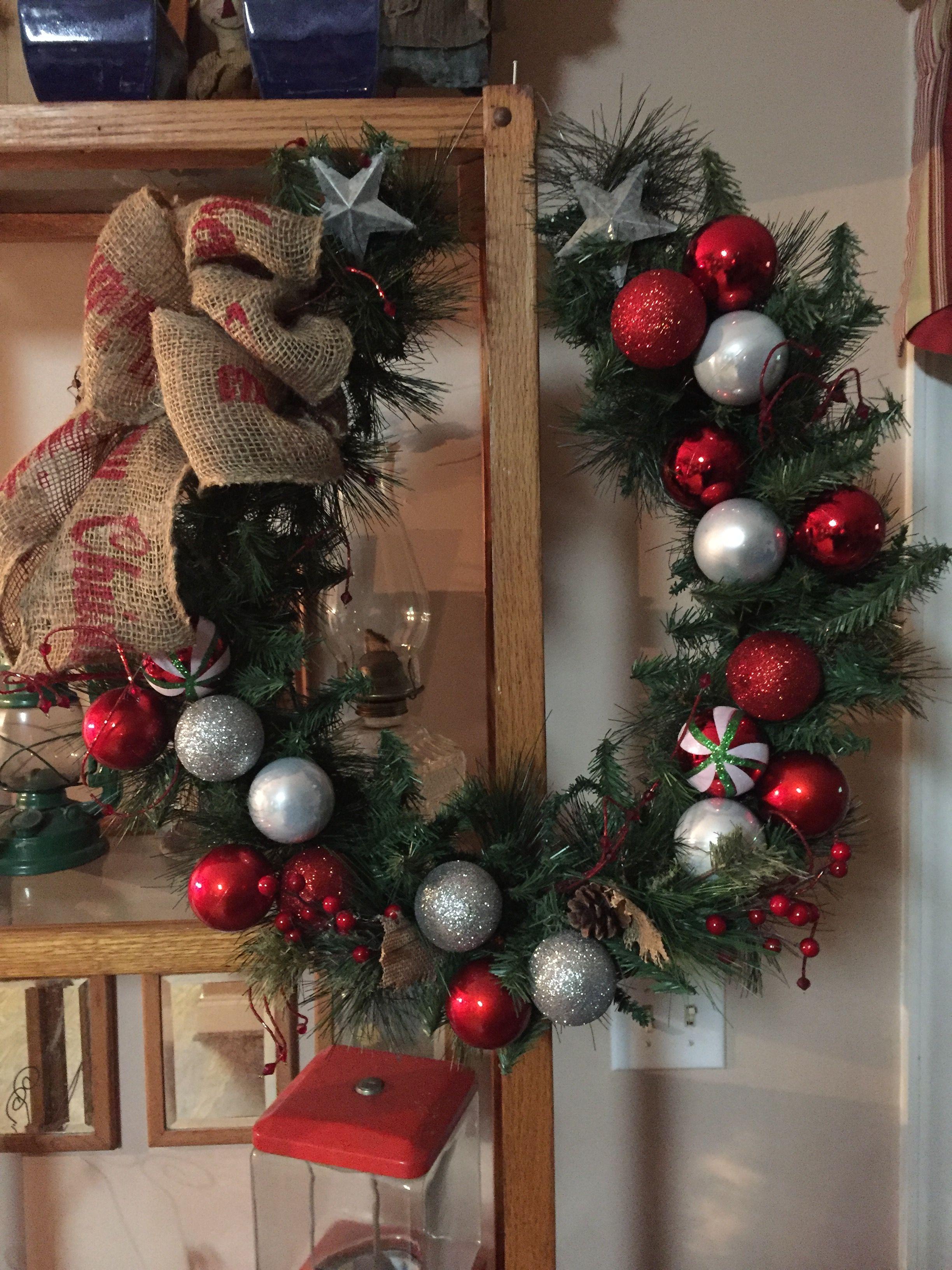 horseshoe shaped christmas wreath horseshoe wreath christmas wreaths christmas decorations equestrian christmas - Horseshoe Christmas Wreath