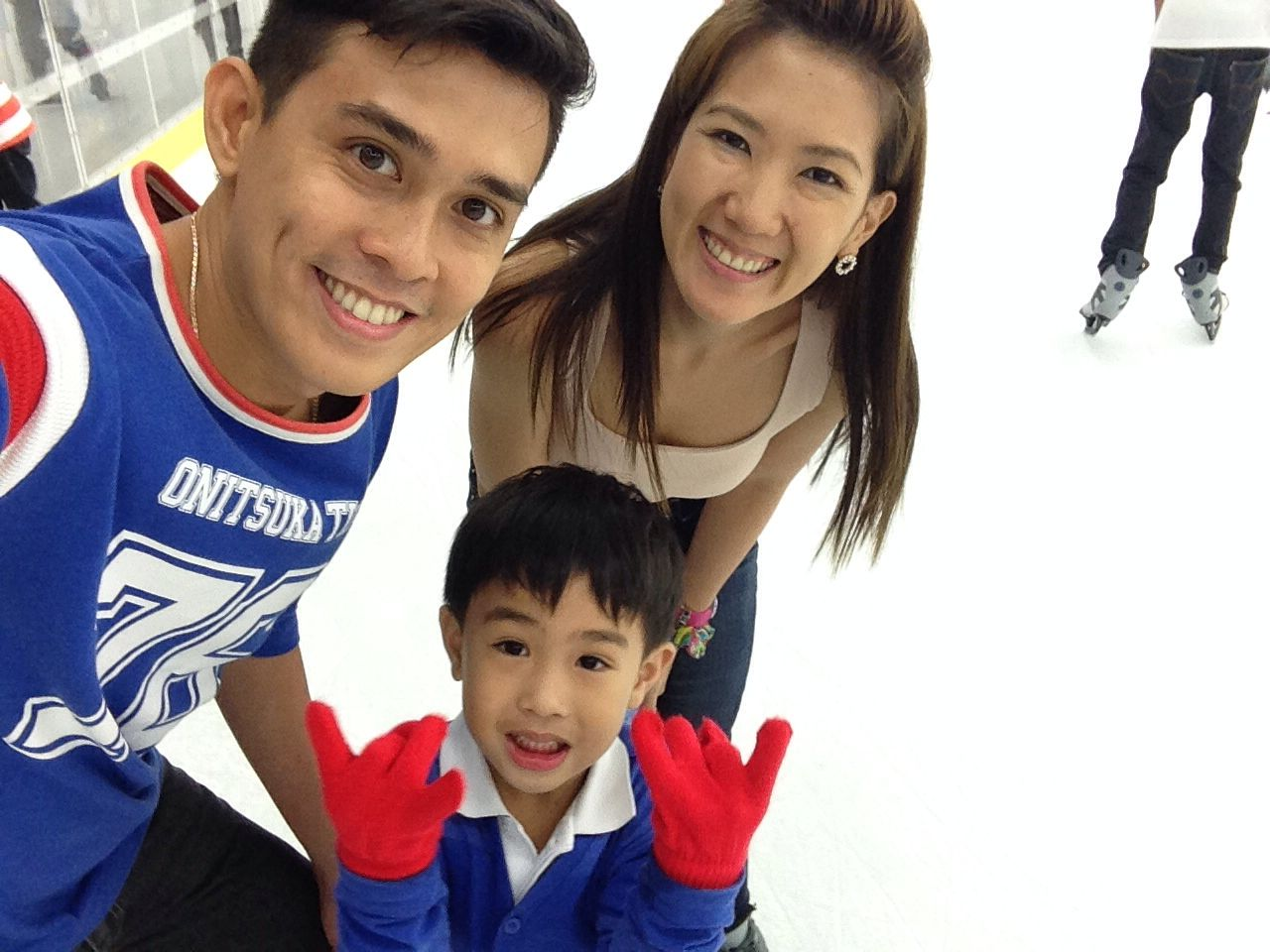 Ice skating with family!