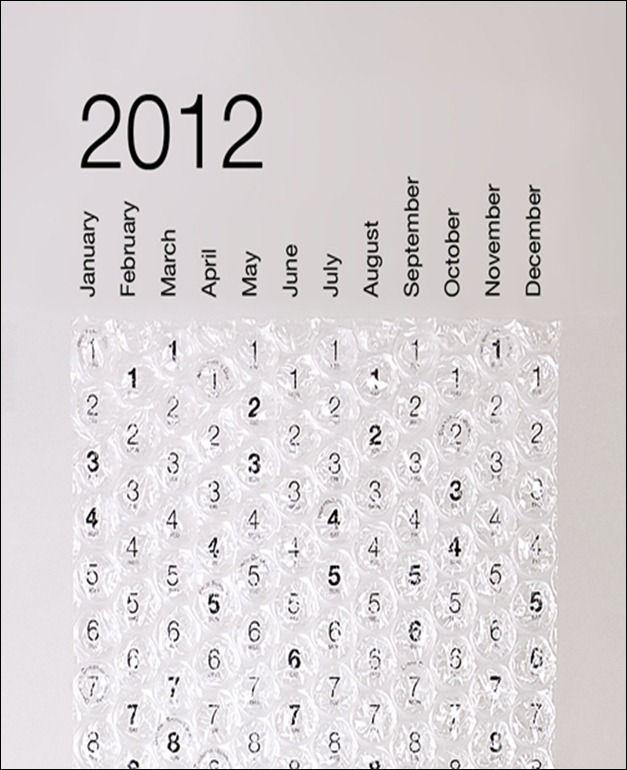 80 Most Creative 2012 Calendar Design Calendar Design Creative