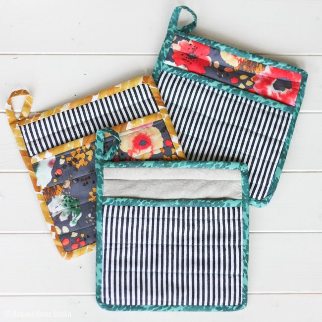 Learn How to Sew a Simple Potholder for Your Kitchen | Potholders ...