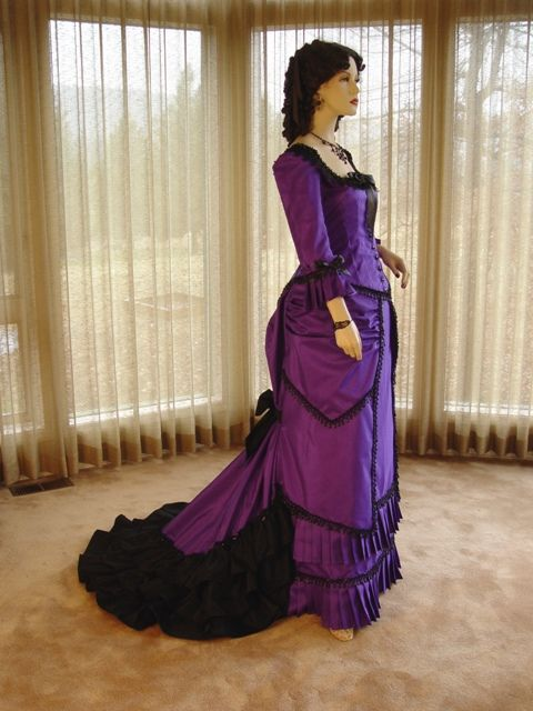 victorian evening gowns purple - Google Search | Victorian ...