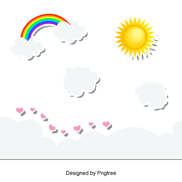Beautiful Cartoon Lovely Hand Painted Sun Beautiful Cute Cartoon Png Transparent Clipart Image And Psd File For Free Download Rainbow Cartoon Hand Painted Free Graphic Design
