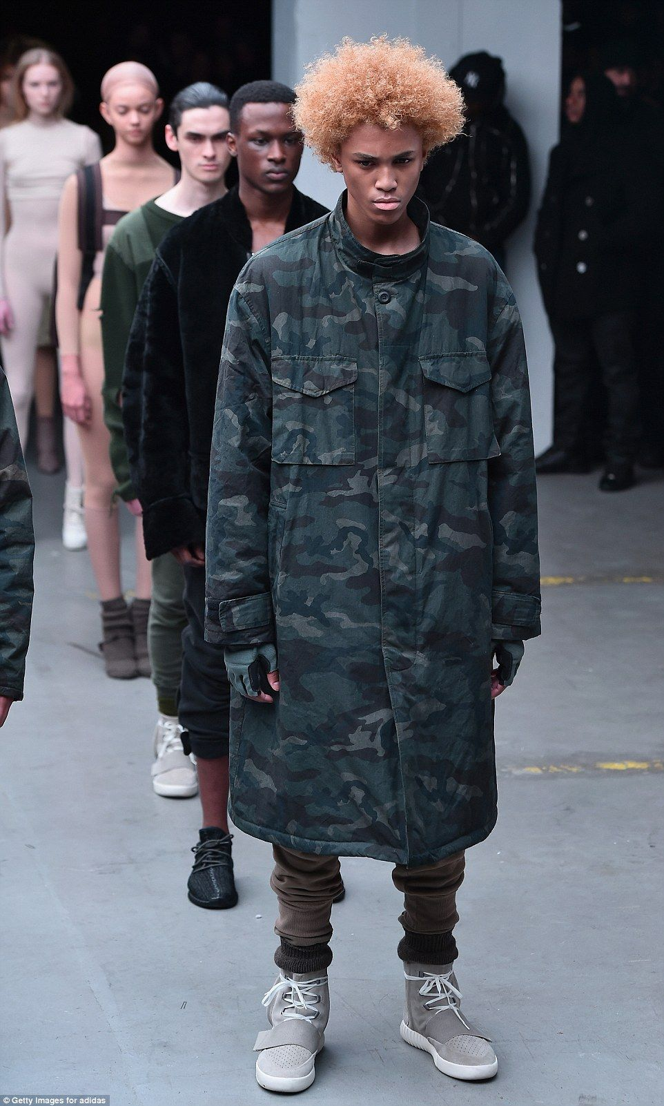 Critics Respond To Kanye West S New Fashion Line With Adidas Kanye West Adidas Kanye West Adidas Originals Yeezy Outfit