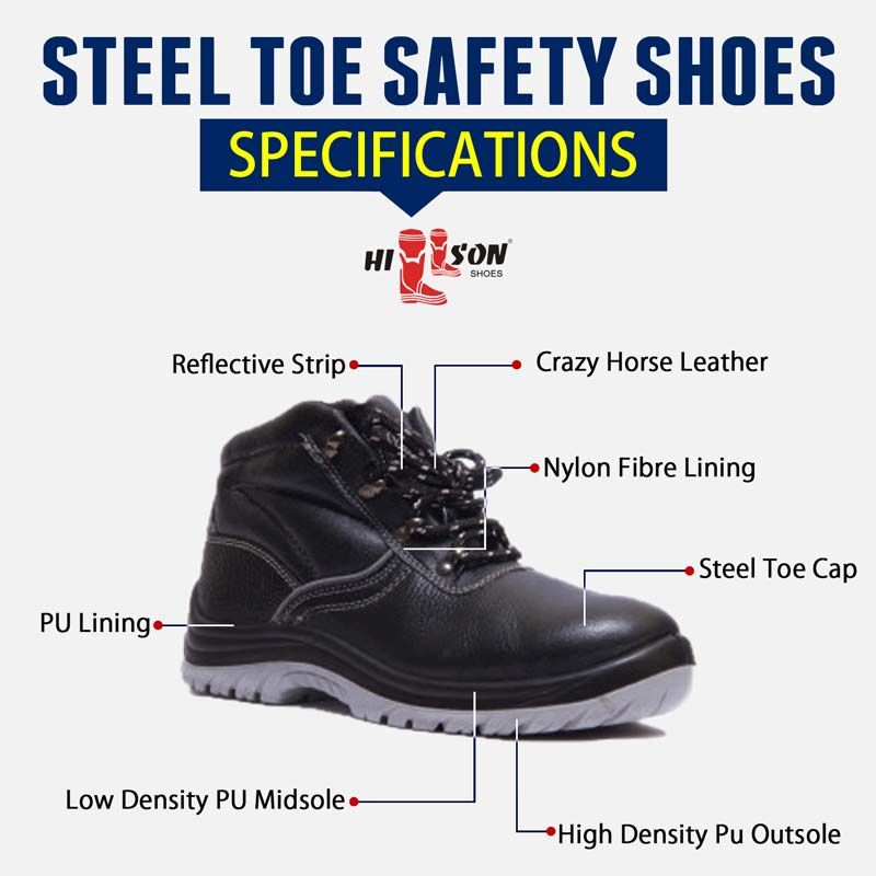Steel Toe Safety Shoes Specifications | Dual Density Safety