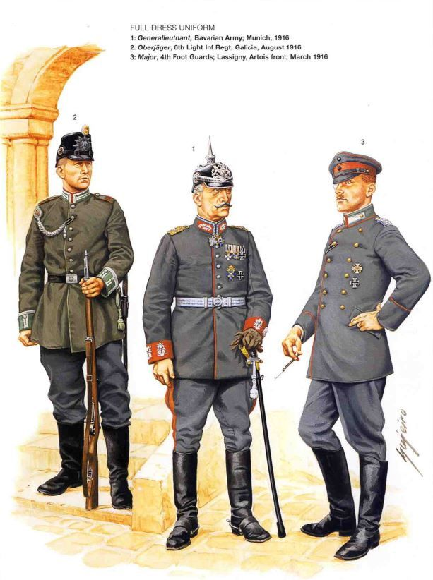 German uniforms WWI    Imperial Germany   German uniforms
