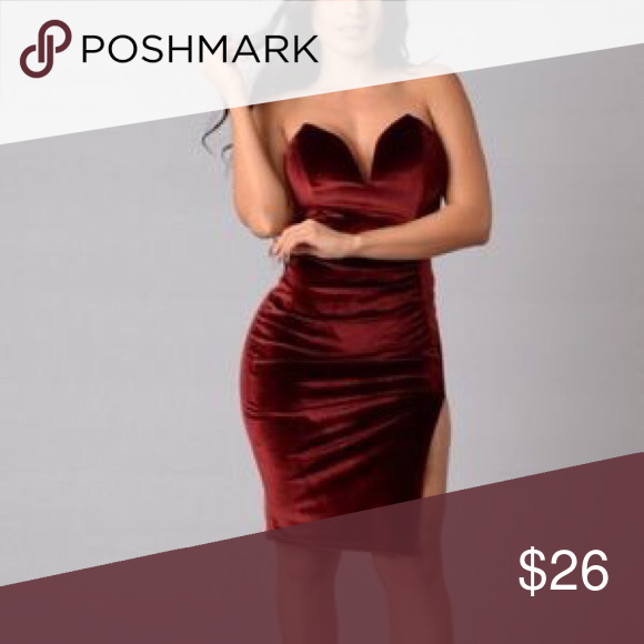 f6068813bc0 Fashion nova red velvet dress New without tags Fashion Nova Dresses Mini
