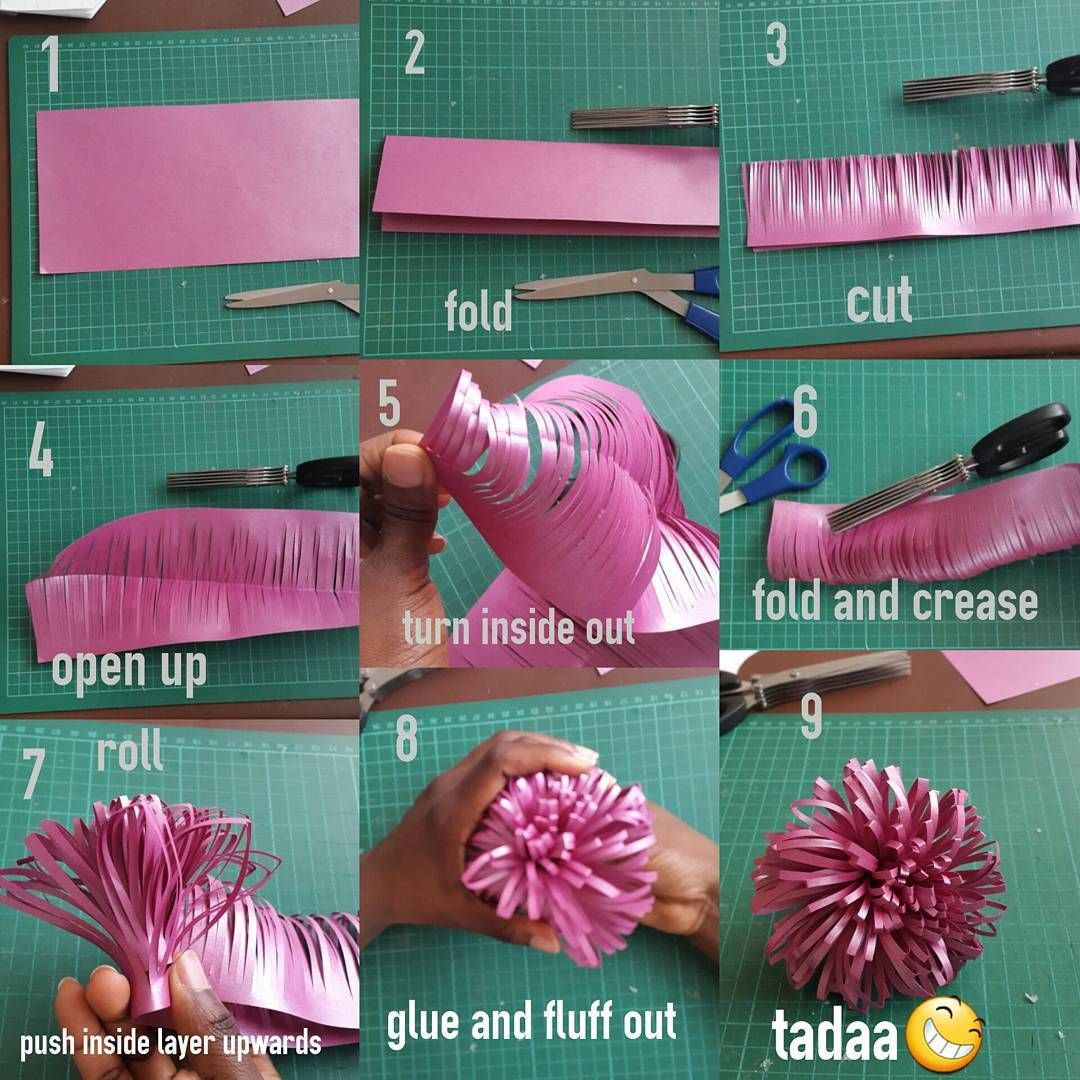 Image Result For Poshpaperdesign Instagram Paper Flower Tutorial