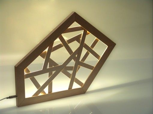 #polyx: handmade in Munich by #Leuchtmanufaktur.  Designer: Otto Sprencz  #Lichtdesign, #lightdesign, #Holzleuchte, #woodlamp, #LED