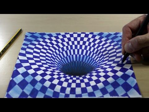 How To Draw 3d Art Drawing Tunnel Youtube 3d Drawings