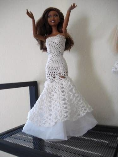 Crochet Barbie Gowns - Bing images | Barbie/Ken Clothes patterns ...
